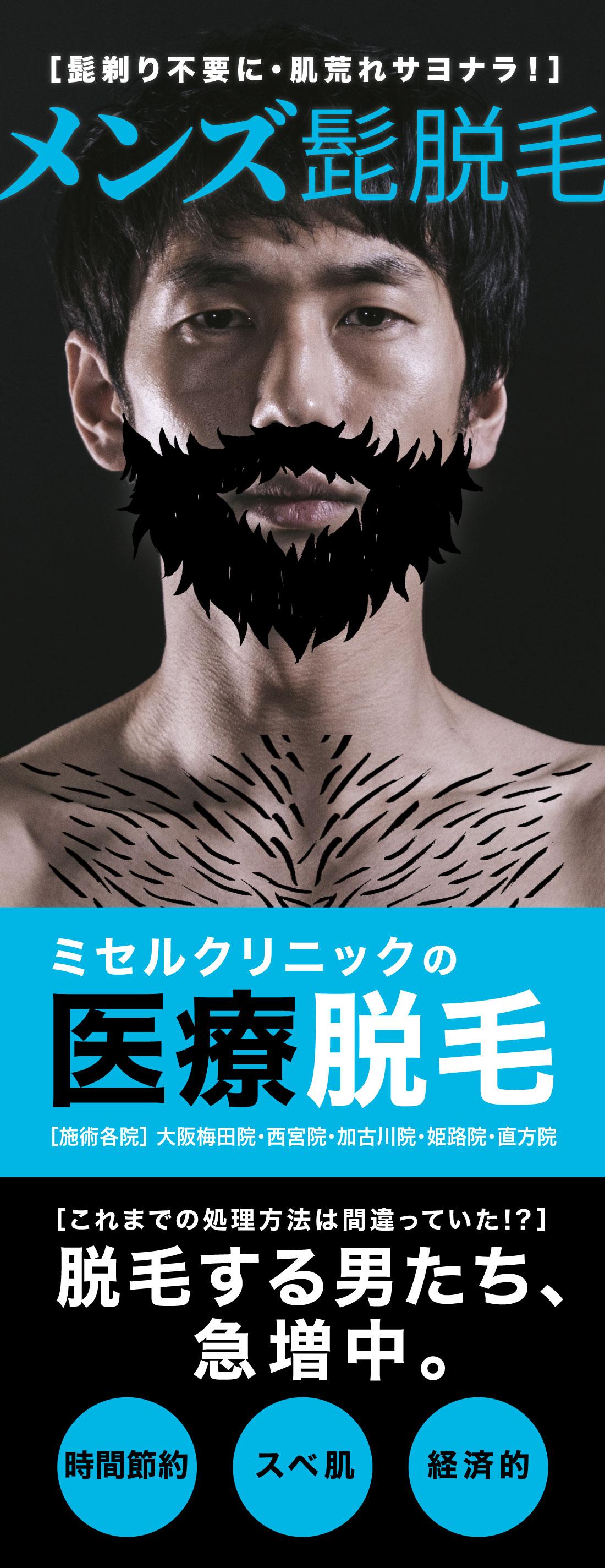 大西メディカルクリニック 医療脱毛 男性向け メンズ髭脱毛